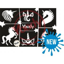 A5 Unicorn Themastencil