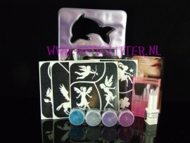 Glitter tattoo set Kids Meisje