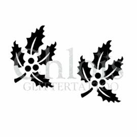 Christmas Leaf (Duo Stencil)