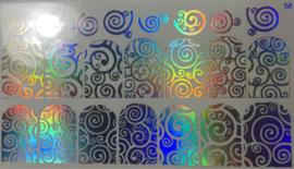 Foil Wrap Holografisch Zilver 58
