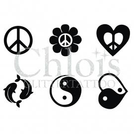 Peace & Ying Yang (Multi Stencil 6)