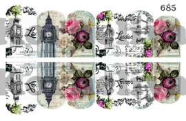 Water Decal Nail Wrap 685