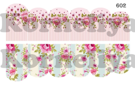 Water Decal Nail Wrap 602