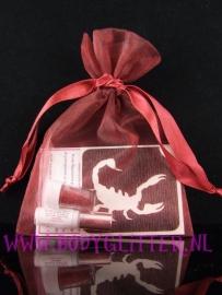 Minisetje Red Wine Scorpio Danger