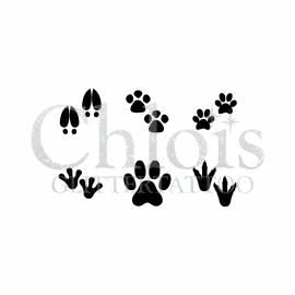 Animal Feet (Multi Stencil 6)