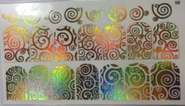 Foil Wrap Holografisch Goud 58