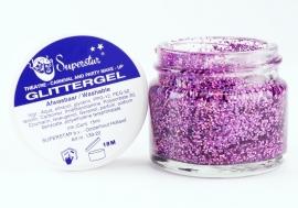 Glittergel pot 15 ml Lavendel Multi color