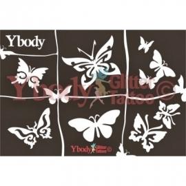 A5 Butterflies Themastencil