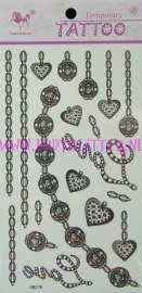 Jewelry Tattoos HM376