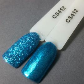 Crystal Nailart Sugar Sparkling Aqua Blue 412