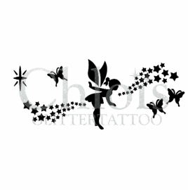 Fairy with Butterflies and Stars
