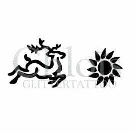 Deer & Sun (Duo stencil)