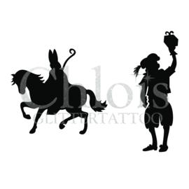 Sint, Piet en Amerigo (Duo stencil)