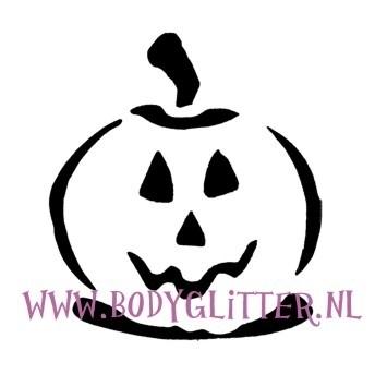 Sjabloon Pompoen Halloween.Pompoen Sjablonen Halloween Body Glitter Glitter