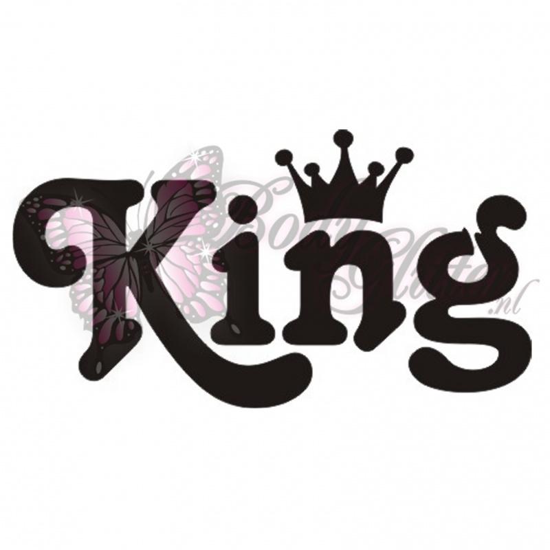Stencil King Crown: Body Glitter - Glitter Tattoo