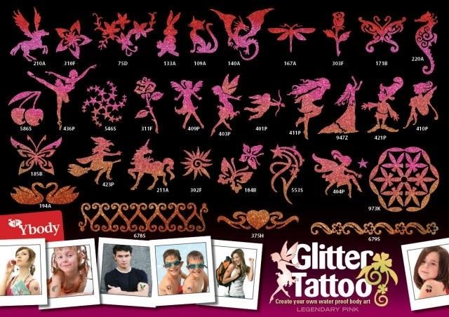 Legendary Pink A3 poster met sjablonen