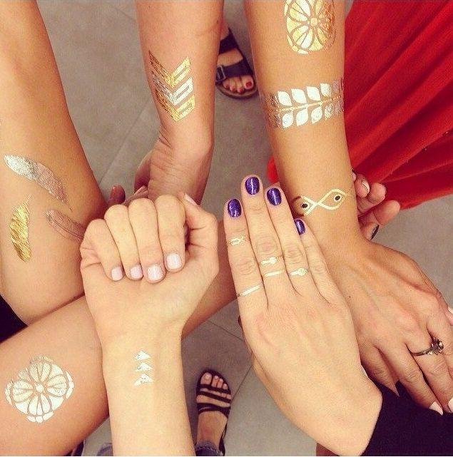Metallic Plaktattoo Body Glitter Glitter Tattoos