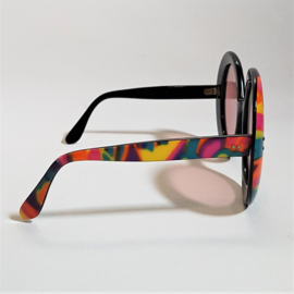 zonnebril sunglasses oversized colourful emilio pucci style 1960s 1970s