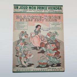 sneeuwwitje blanche neige disney bladmuziek 1938