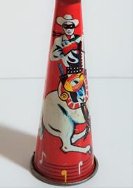 toeter speelgoed blik lone ranger style  japan tin 1950s / 1960s