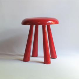 kruk paddestoel kinderkruk mushroom style children's stool 1970s