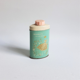 talcpoeder blik talcum powder tin box bronnley's 1950s / 1960s