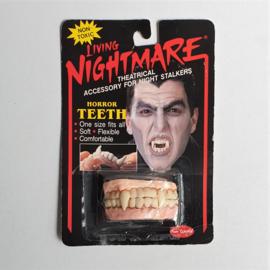 halloween living nightmare horror teeth in package 1988