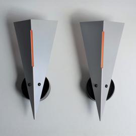 wandlamp 2x dijkstra toca pair of wall lamps memphis style 1980s / 1990s