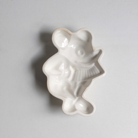 mickey mouse rat face puddingvorm pudding mold societe ceramique 1930s