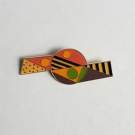 broche memphis milano style brooch 1980s