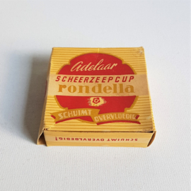 scheerzeepcup adelaar rondella in verpakking shaving soap in package 1950s