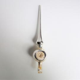 kerstversiering zilver piek christmas peak ornament koplamp 1960s