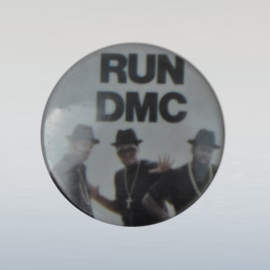 run dmc button pin 1980s GRATIS VERZENDEN