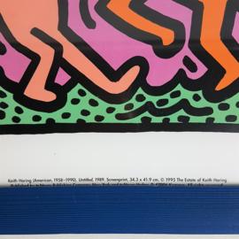 haring, keith print zeefdruk in lijst screenprint 1995