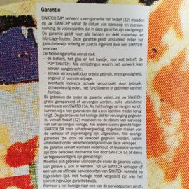 swatch garantiebewijs warranty poster mimmo rotella art 1994