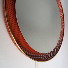 spiegel met lamp artimeta floris h. fiedeldij wall mirror lamp 1950s