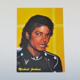 jackson, michael postcard ongelopen 1980s