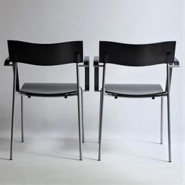 stoelen set pair of dinner chairs johannes foersom & peter hiort-lorenzen sweden 1998