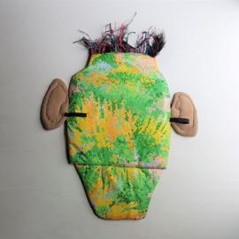 wandmasker masker mask bas kosters textile art rauw dj booth 105 cm h