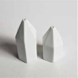 peper en zoutstel porselein salt pepper jars porcelain 1980s