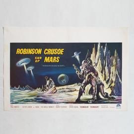 robinson crusoe on mars SF film movie poster belgium 1964