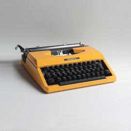 typemachine geel typewriter silverette yellow silver seiko japan 1970s