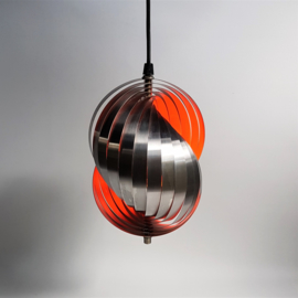 hanglamp hanging lamp henri mathieu space age 1960s