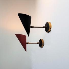 wandlamp 2x wall lamp a.galecki set 1960s