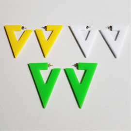 oorbellen 3x hangers earrings design 1980s