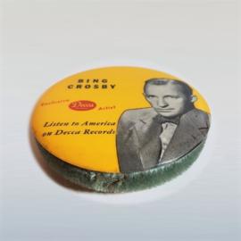 crosby, bing record cleaner brush LP schoonmaker DECCA 1940s / 1950s