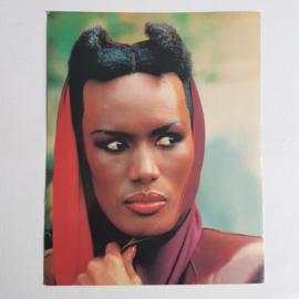 jones, grace fotokaart card unused 1980s