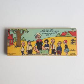 popeye krijtjes in verpakking colored chalk in package 1929