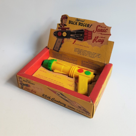 buck rogers space toy sonic ray gun in box 1952
