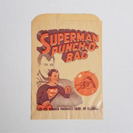 superman punch-o-bag verpakkingszakje package only 1940s